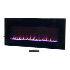 Wall-Mounted Electric Fireplace With Remote, LED Fire and Ice Flame, 36""