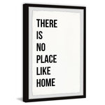 """Marmont Hill Inc. - """"There is No Place like Home"""" Framed Painting Print, 24""""x36"""" - Top quality Giclee print on high resolution Archive Paper"""