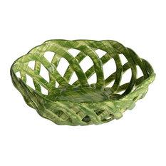 Intrecci Green Octagon Bon Bon Basket