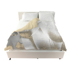 "Oliver Gal ""Royal Feathers"" Duvet Cover, King"