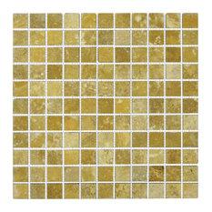 Tumbled Tile On Mesh, Gold, 12''x12''