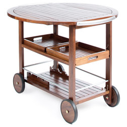 Craftsman Outdoor Serving Carts by GDFStudio