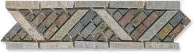 Border, Rustic Slate Mosaic - Tile