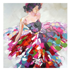 """Vibrant Dresses"" Hand Painted Canvas Art"