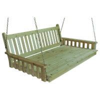 Pine Traditional English 6' Swingbed With Chains, Unfinished