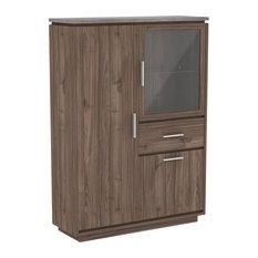 Cordoue 2-Door 1-Glass Door Display Cabinet