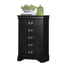 Modern Louis Philippe Chest Burnished Black