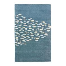 Jaipur Living Schooled Handmade Animal Blue/Gray Area Rug, 5'x8'