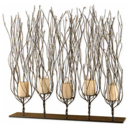 Rustic Candleholders by Buildcom