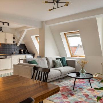 Dachgeschoss in Berlin Mitte - Möbliertes Wohnen