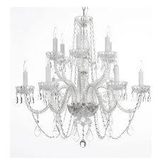 Empress Crystal Trimmed Chandelier 12-Light