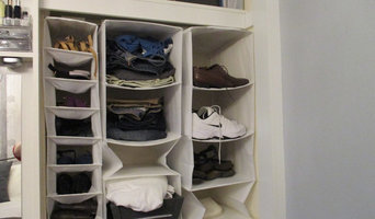 Maximise organisational space in a built in wardrobe
