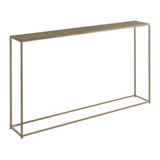 Minimalist Gold Metal Console Table, Moroccan