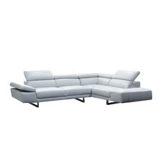 1717 Premium Leather Modern Sectional Sofa Right Hand Facing Chaise