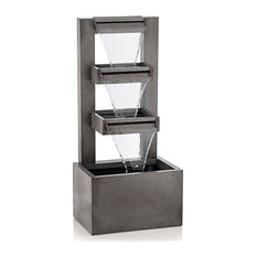 Alpine CPS182 Metal Tiered Waterfall Fountain