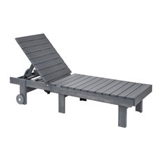 Generations Chaise Lounge With Wheels, Slate Gray