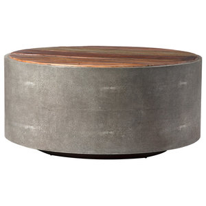 Home Styles Concrete Chic Square Coffee Table In Brown And