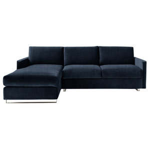 Felix Corner Sofa Bed, Navy, 3 Seater, Left Hand Facing