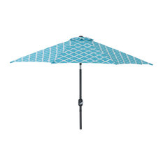 Kobette 9' Patio Market Umbrella, Teal