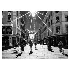 "Pixtury ""Oslo, Karl Johans Gate"" Photo Print, Canvas, 30x40 cm"