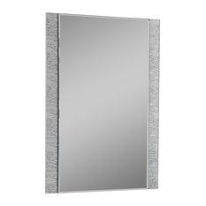Decor Wonderland - Frameless Molten Wall Mirror - Bathroom Mirrors