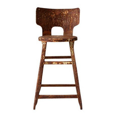 Consigned Vintage Rusted Industrial Stool