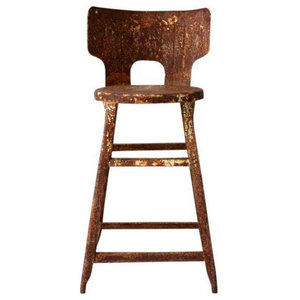 Consigned, Vintage Rusted Industrial Stool