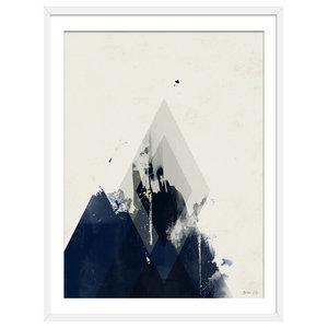 """Fade Away"" Abstract Art Print, White Framed, 50x70 cm"