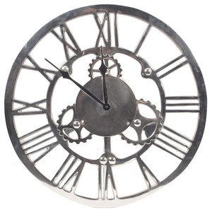 Cog Round Wall Clock