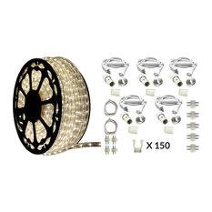 120V Dimmable LED Moon White Rope Light Deluxe Kit, 513PRO Series