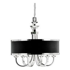 Single Lamp Chandelier Sleek Silver Arms Smart Shading Home Decor