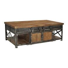 Sliding Door Farmhouse Coffee Table