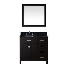 "Caroline Parkway 36"" Vanity, Without Faucet, Round, Right"