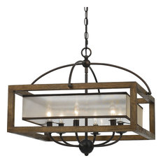 Square Chandelier Lamp - Organza