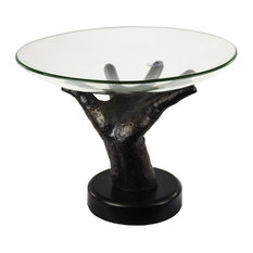Sagebrook Home Glass Bowl On Hand Stand