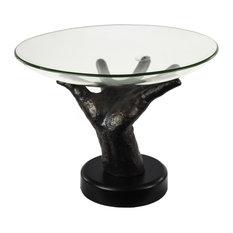 Sagebrook Home Glass Bowl On Hand Stand