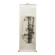 Black Bamboo Scroll