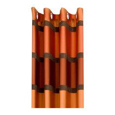 Horizontal Stripe Drape, Red and Brown