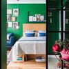 Houzz тур: Квартира 28 кв.м с зелёными стенами