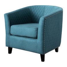 29.75 in. Club Chair in Dark Teal
