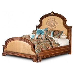 AICO Grand Masterpiece Panel Bed, Royal Sienna, California King