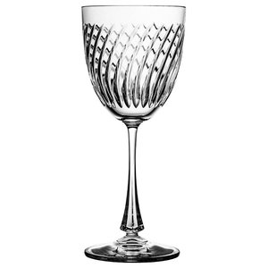 Decorative Lead Crystal Wine Glasses, Set of 6