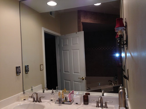 Small Bathroom Mirror Selection Covering Wall Or 2 Separate Mirrors