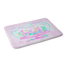 "Dash And Ash Unicorn Hideaway Memory Foam Bath Mat, 24""x36"""