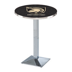 L217 - 36-inch Chrome US Military Academy (ARMY) Pub Table by Holland Bar Stool Co. by Holland Bar Stool Company