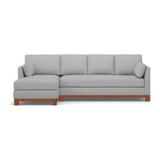 Avalon 2-Piece Sectional Sofa, Silver, Chaise on Left