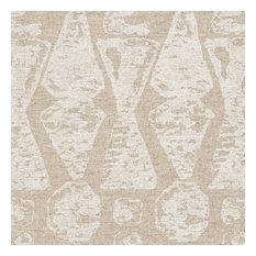 "Rod Pocket Curtain Panels Pair Juju Chalk White Geometric Cotton, White, 72"", Li"