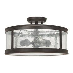 Capital Lighting 9567OB Dylan 3-Light Outdoor Semi-Flush - Damp Rated, Bronze