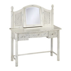 Home Styles Marco Island Vanity and Mirror in White