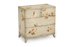 Jonathan Charles Hand-Painted Floral Chest of Drawers, Small